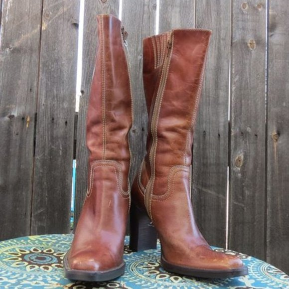 Steve Madden leather heeled boot